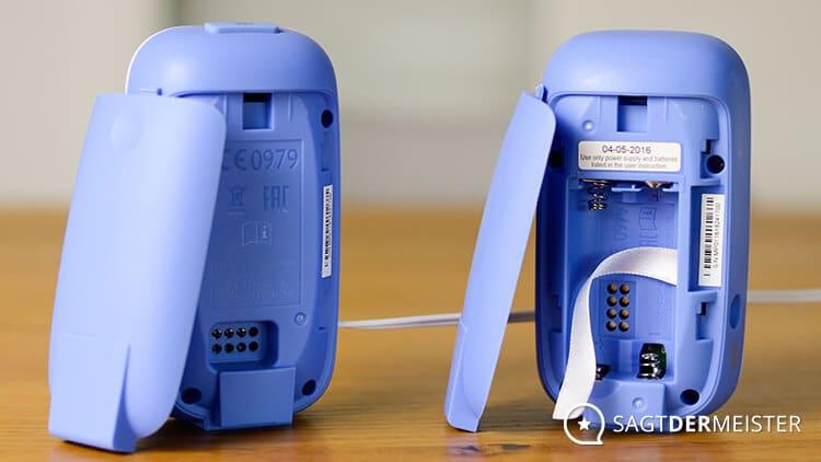 Philips Avent Babyphone Rückseite