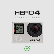 goPro Hero 4 black silver