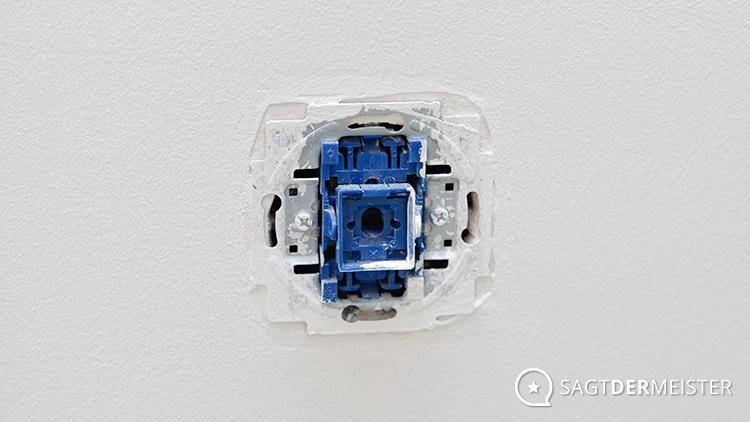 Lichtschalter ohne Rahmen