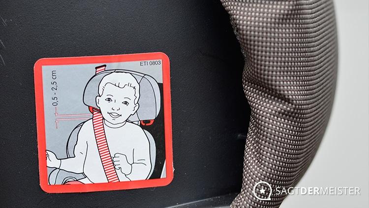 Maxi-Cosi Kindersitz Sicherheitshinweis