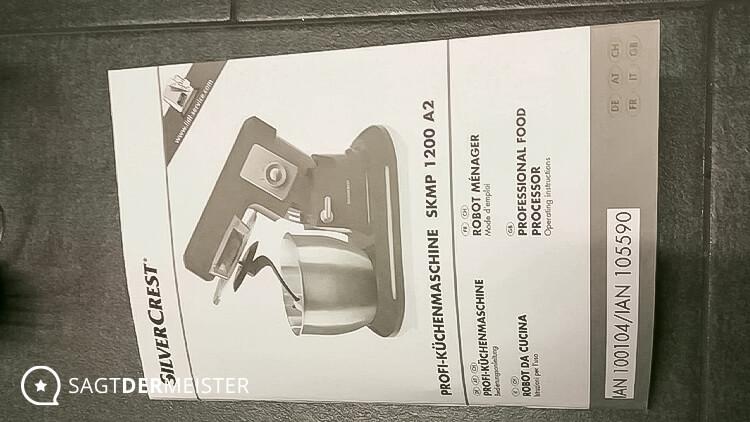 SILVERCREST Küchenmaschine Bedienungsanleitung