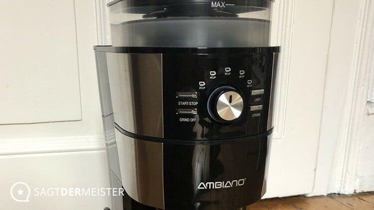AMBIANO Kaffeemaschine mit Mahlwerk Test