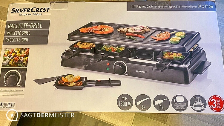SILVERCREST Raclette Grill Verpackung