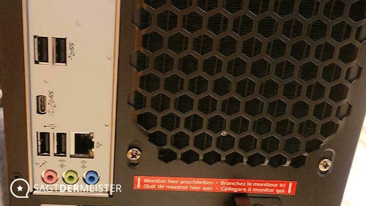 erazer Gaming PC Engineer X10 Anschlüsse