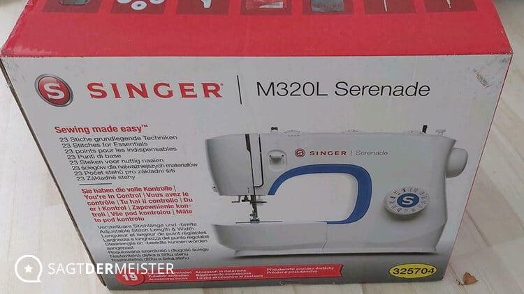 SINGER Nähmaschine Serenade M320L Verpackung